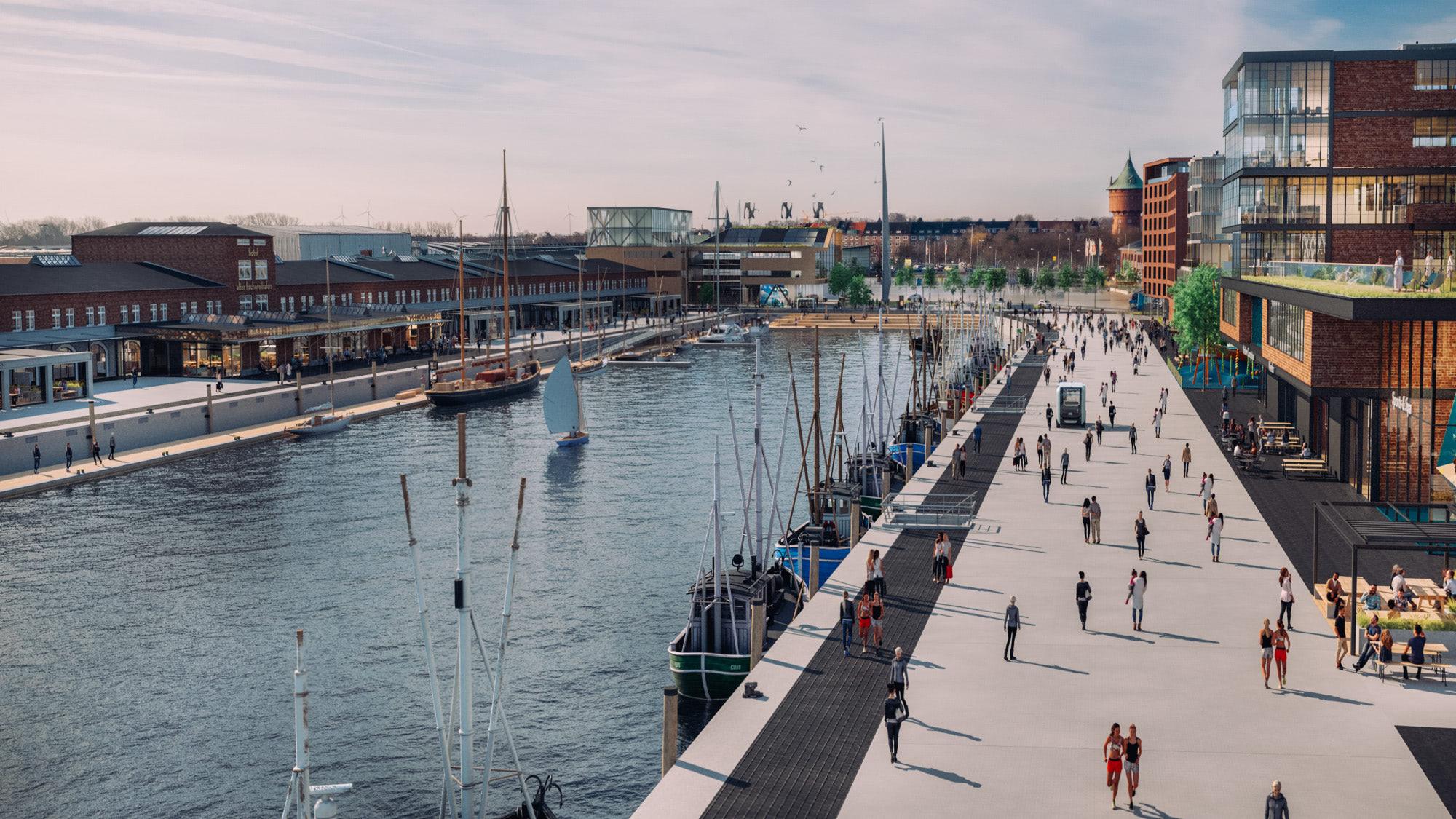 Destinationsentwicklung Quartier Alter Fischereihafen Cuxhaven Aufsicht Mitte Nordseekai Going Places