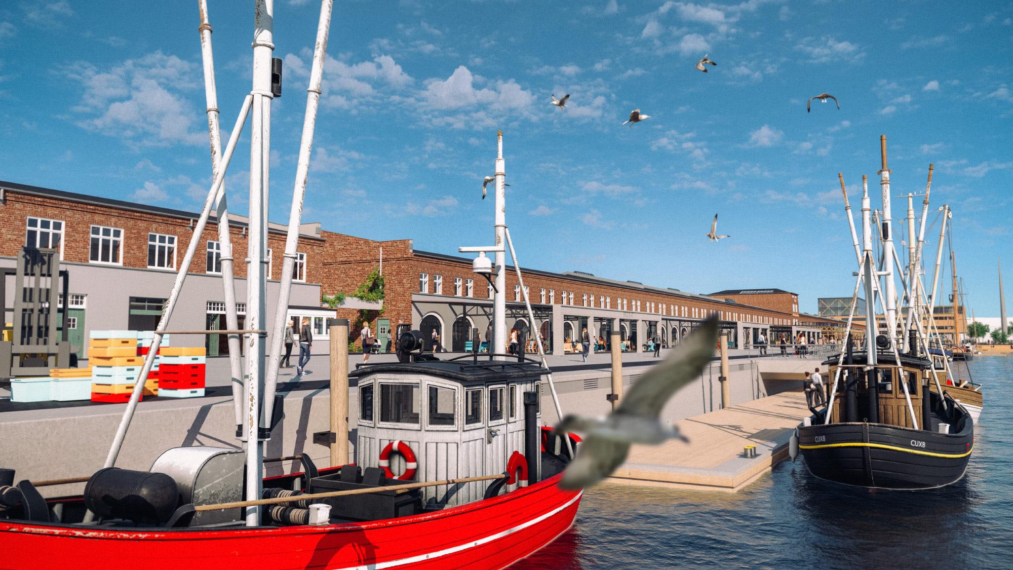 Destinationsentwicklung Quartier Alter Fischereihafen Cuxhaven Fischhalle vom Nordseekai Going Places