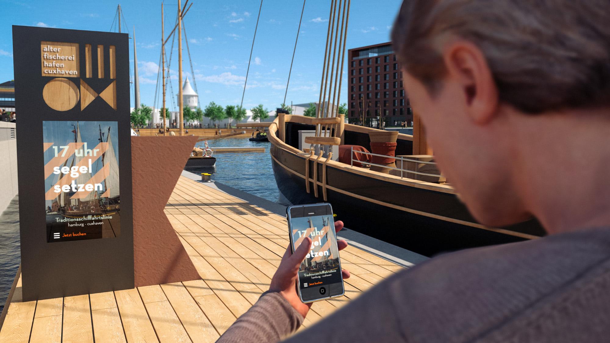 Destinationsentwicklung Quartier Alter Fischereihafen Cuxhaven Meinkenkai Boot Going Places