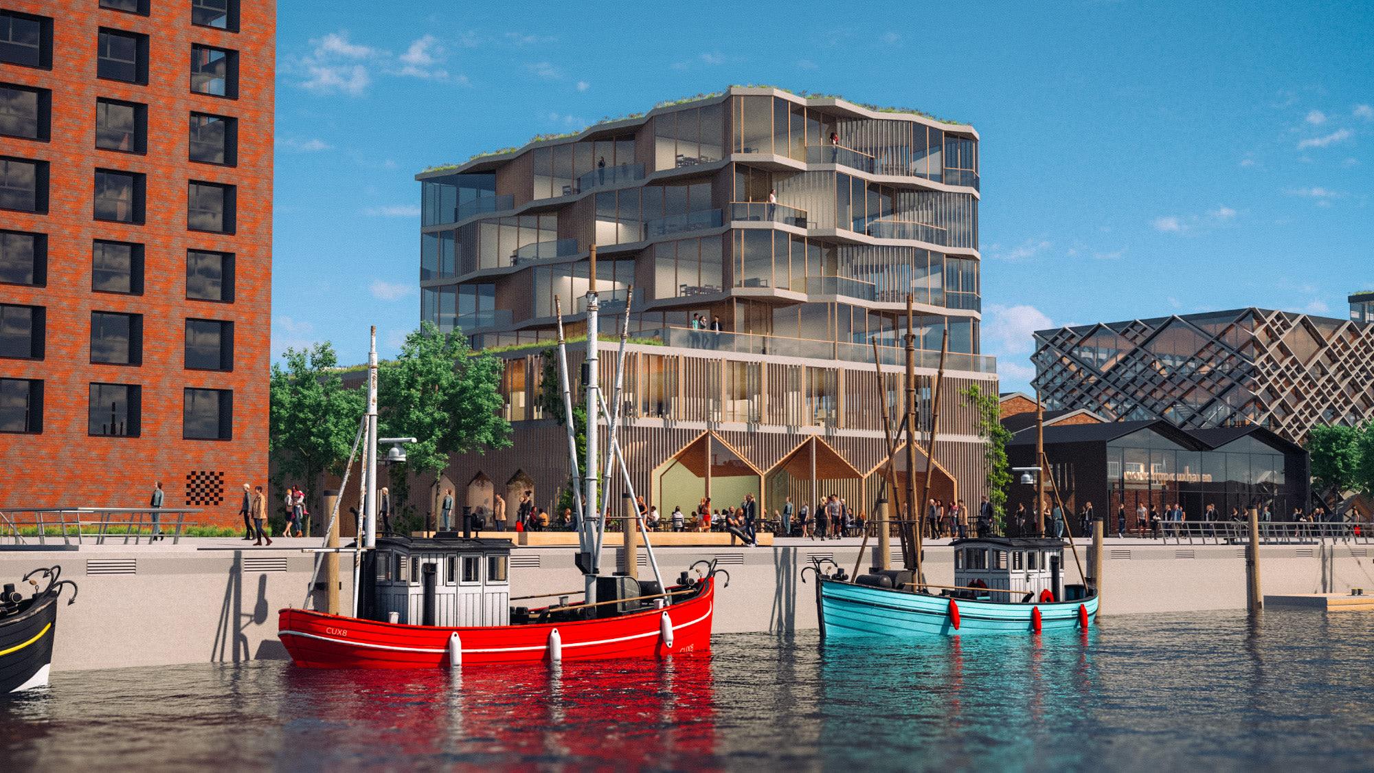 Destinationsentwicklung Quartier Alter Fischereihafen Cuxhaven Promenade Büros Boote Going Places