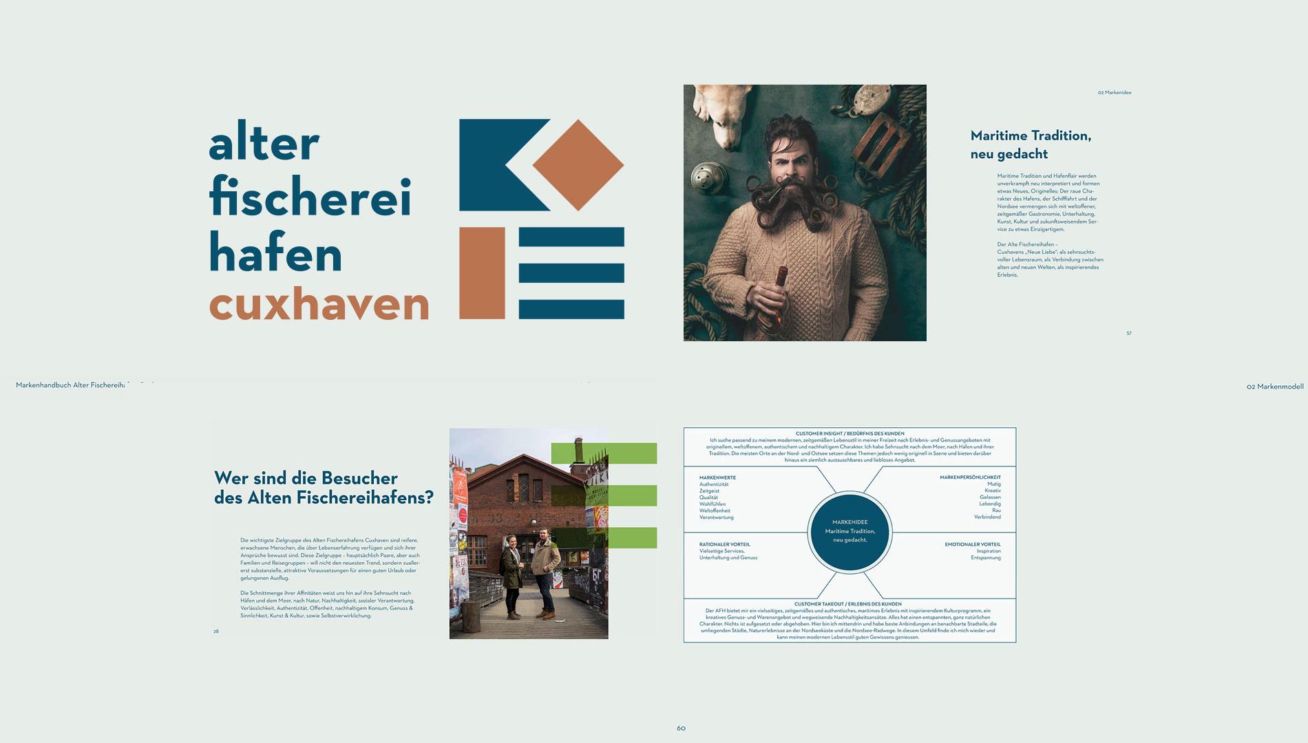 Markenentwicklung Corporate Design Alter Fischereihafen Cuxhaven Markenhandbuch Markenidee Markenmodell Going Places