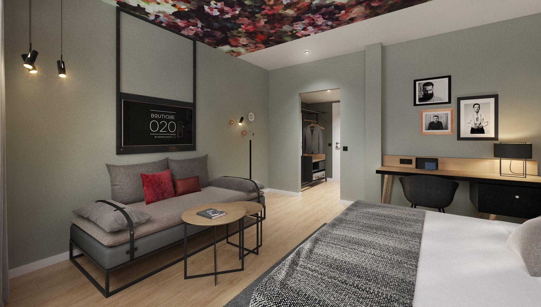 Destinationsentwicklung Boutique Hotels by Centro Hamburg Dortmund Hotel Design Hotelzimmer Bett Sofa Going Places