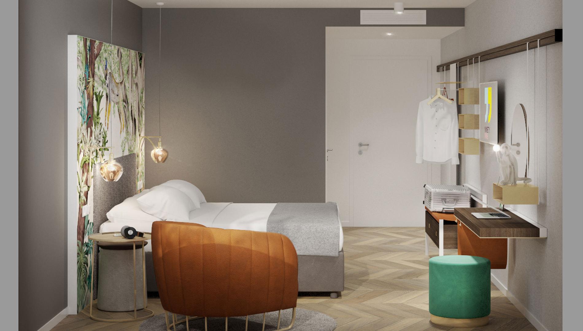 Destinationsentwicklung Ninety Nine Hotels Wuppertal Hotel Design Hotelzimmer Bett Schreibtisch Going Places