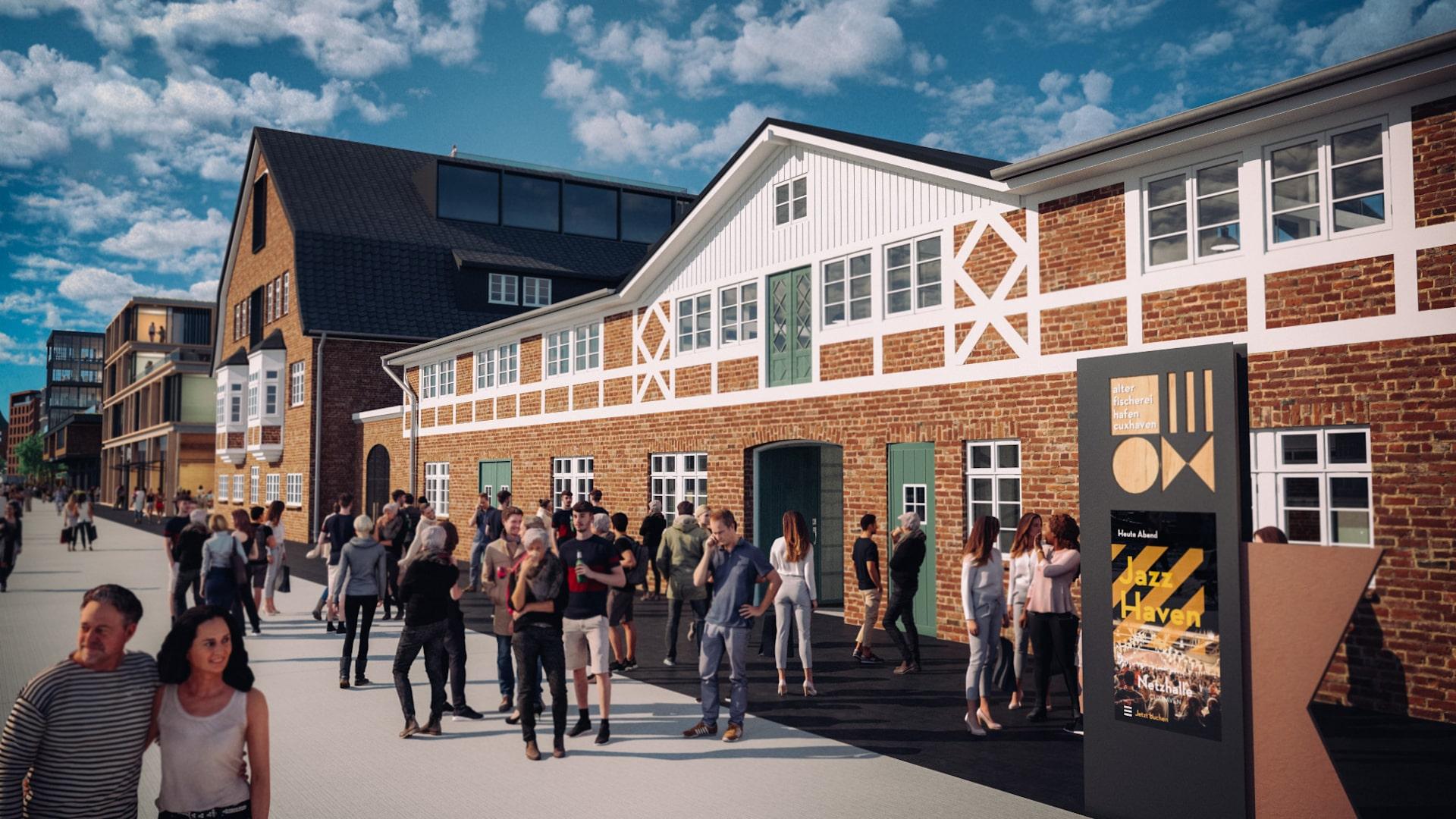 Destinationsentwicklung Quartier Alter Fischereihafen Cuxhaven Netzhalle Jazzhaven Going Places