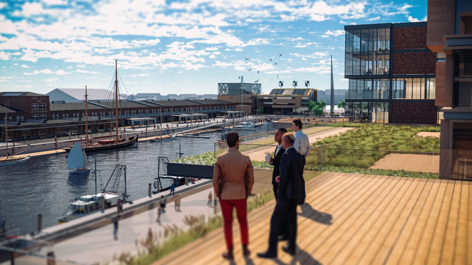 Destinationsentwicklung Quartier Alter Fischereihafen Cuxhaven Ausblick Wasser Going Places