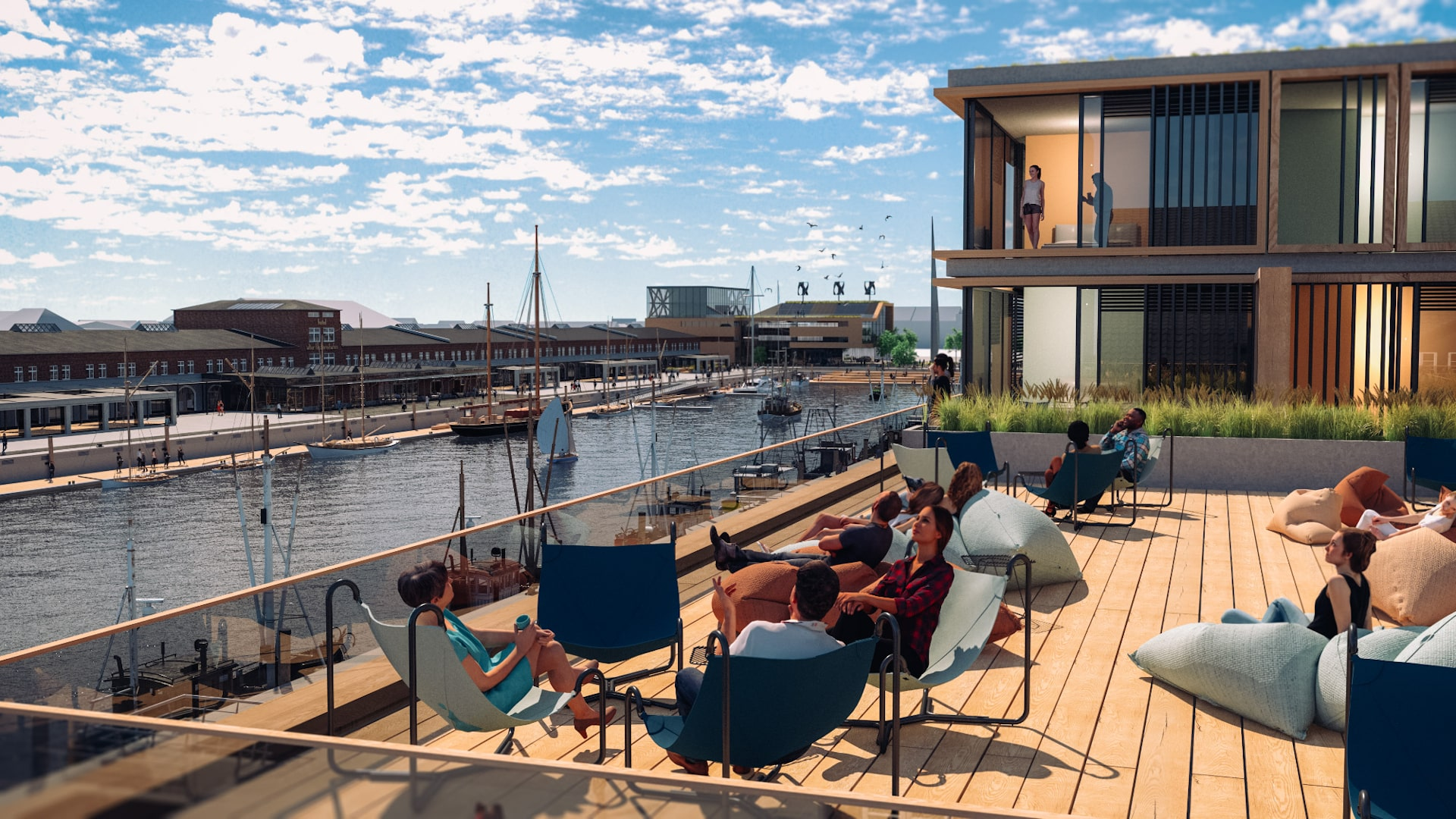 Destinationsentwicklung Quartier Alter Fischereihafen Cuxhaven Terrasse Going Places