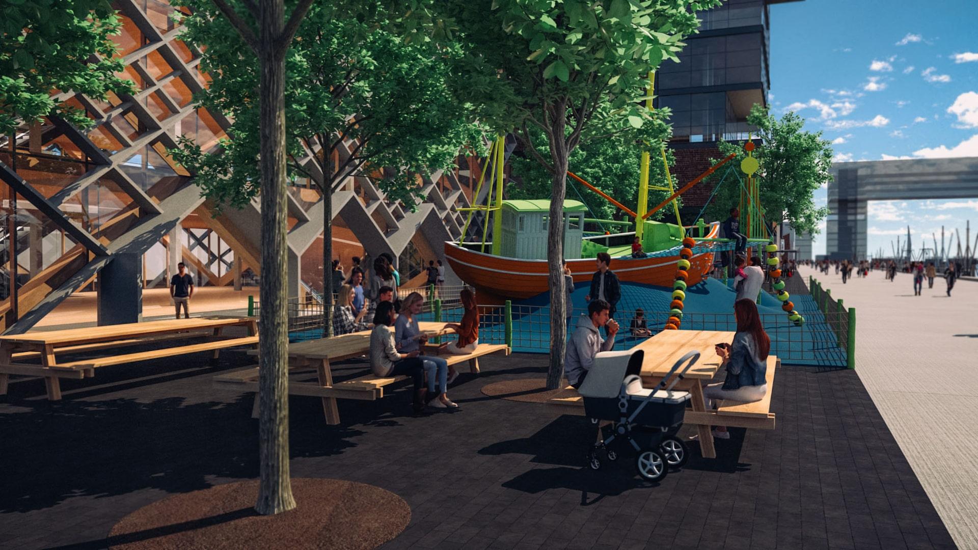 Destinationsentwicklung Quartier Alter Fischereihafen Cuxhaven Spielplatz Familien Going Places